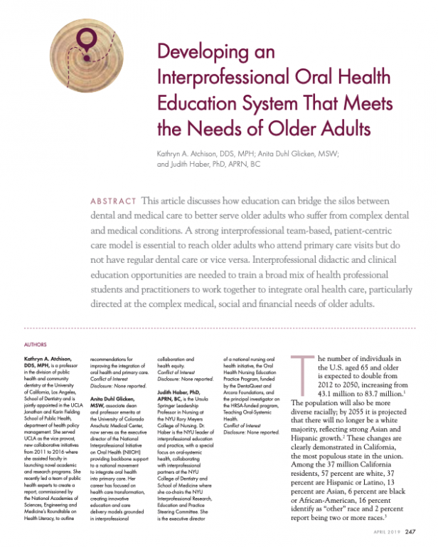 Developing an Interprofessional Oral Health Education System