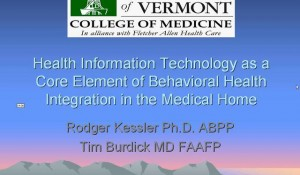 Behavioral Health Integration in the Medical Home and Its Facilitation by HIT