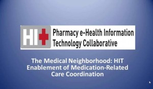 HIT Enablement of Medication-Related Care Coordination
