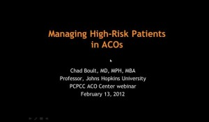 Managing High-Risk Patients in ACOs