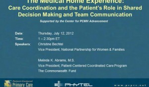PCPCC Webinar: Care Coordination and the Patient's Role in Shared Decision Making